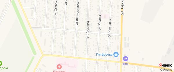 Улица М.Горького на карте села Бакалы Башкортостана с номерами домов