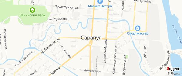 Овощной ГСК на карте Сарапула с номерами домов