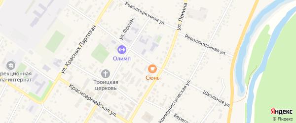 Школьная улица на карте села Бакалы Башкортостана с номерами домов