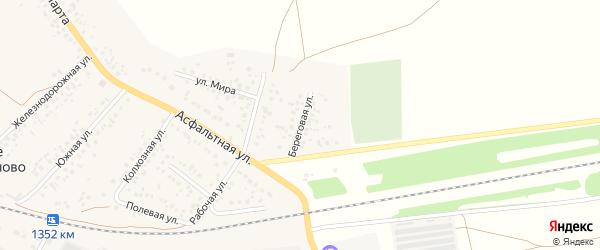 Береговая улица на карте села Субханкулово с номерами домов
