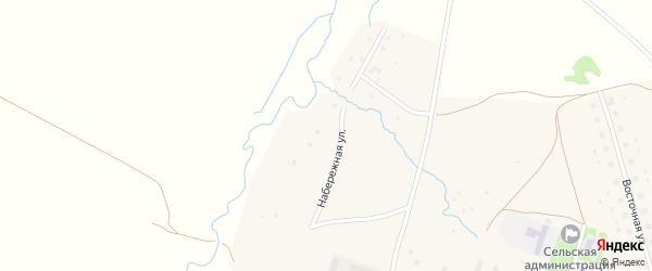 Набережная улица на карте села Баженово Башкортостана с номерами домов