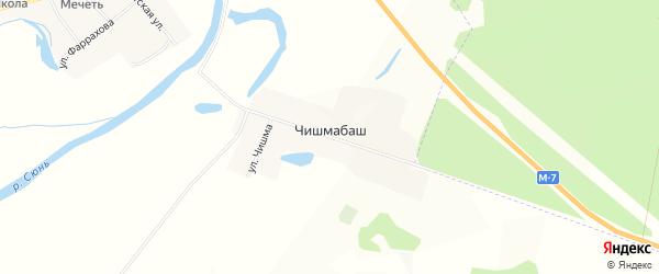 Карта деревни Чишмабаша в Татарстане с улицами и номерами домов