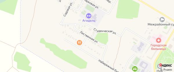 Лиственная улица на карте Агидели с номерами домов