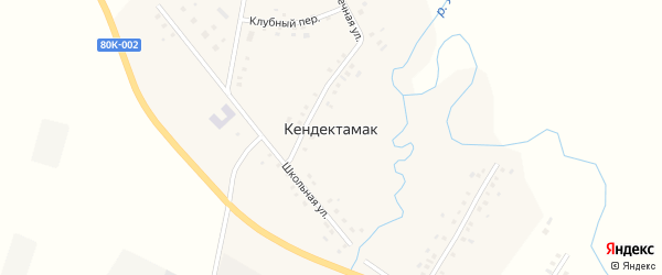 Новая улица на карте села Кендектамака с номерами домов