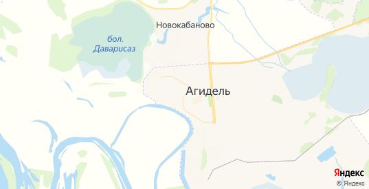 Карта Агидели с улицами и домами подробная. Показать со спутника номера домов онлайн