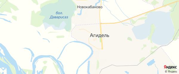 Карта Агидели с районами, улицами и номерами домов