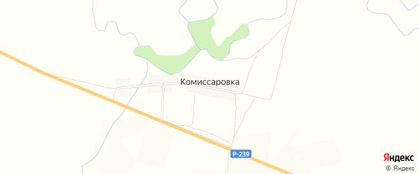Карта села Комиссаровки в Оренбургской области с улицами и номерами домов