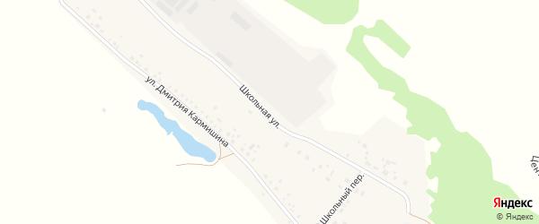 Школьная улица на карте деревни Дмитриевой Поляны с номерами домов