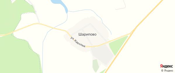 Карта деревни Шарипово в Татарстане с улицами и номерами домов