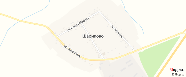 Улица Каенлык на карте деревни Шарипово Татарстана с номерами домов