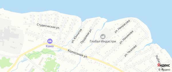 Прудовая улица на карте Воткинска с номерами домов