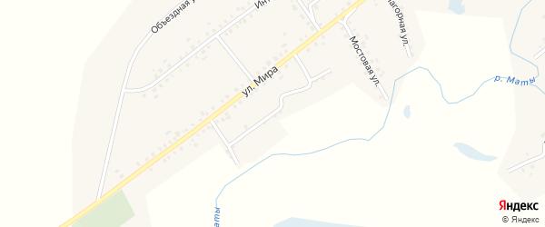 Улица Матросова на карте села Старые Маты Башкортостана с номерами домов