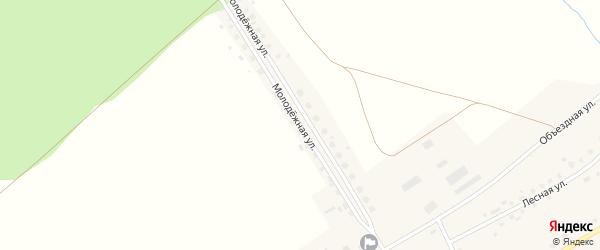 Молодежная улица на карте села Старые Маты с номерами домов