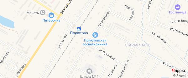 СНТ Швейник на карте поселка Приютово с номерами домов