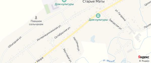 Улица Мира на карте села Старые Маты Башкортостана с номерами домов