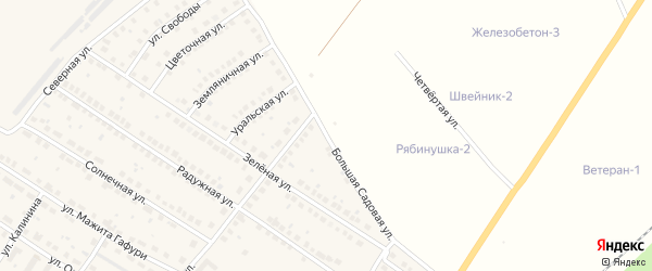 Большая Садовая улица на карте поселка Приютово с номерами домов