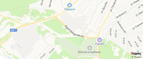 Карта территории СНТ Сада 5 города Воткинска в Удмуртии с улицами и номерами домов