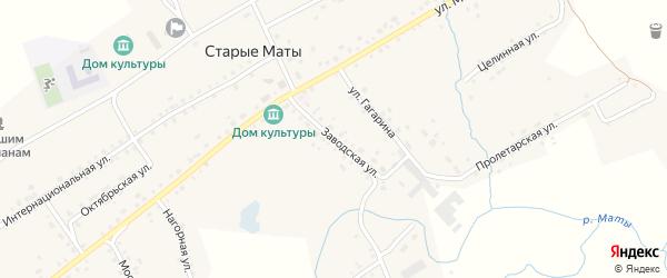 Заводская улица на карте села Старые Маты с номерами домов