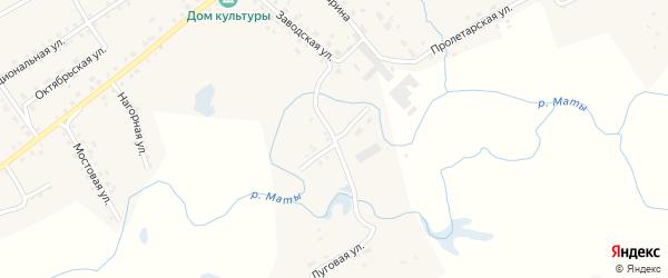 Заречная улица на карте села Старые Маты с номерами домов
