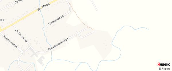 Береговая улица на карте села Старые Маты Башкортостана с номерами домов