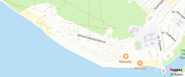 Шпалозаводская улица на карте Воткинска с номерами домов