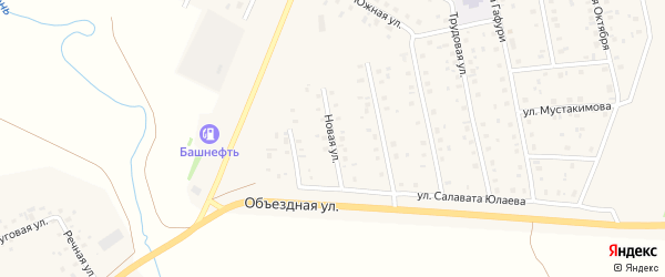 Новая улица на карте села Шарана с номерами домов