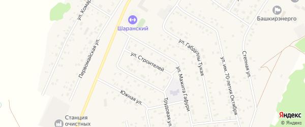 Улица Строителей на карте села Шарана с номерами домов