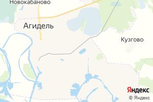 Карта г. Агидель Республика Башкортостан