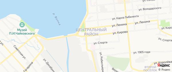 Карта территории ГК ул.Кирова-Чапаева(Стройсинтез) города Воткинска в Удмуртии с улицами и номерами домов