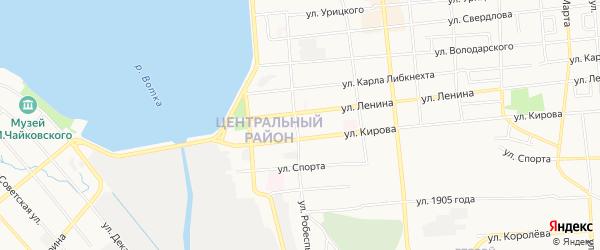 Карта территории ГКК во дворе ул Робеспьера 15 города Воткинска в Удмуртии с улицами и номерами домов
