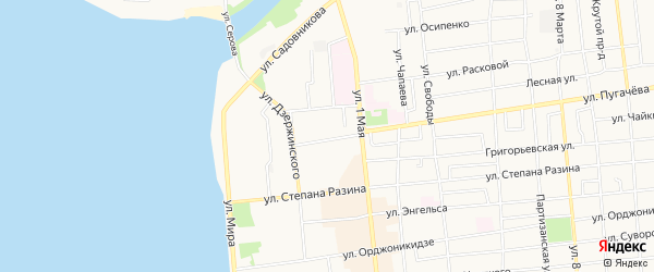 Карта территории ГКК в р-не ул Пугачева 23 города Воткинска в Удмуртии с улицами и номерами домов