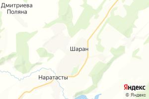 Карта с. Шаран Республика Башкортостан
