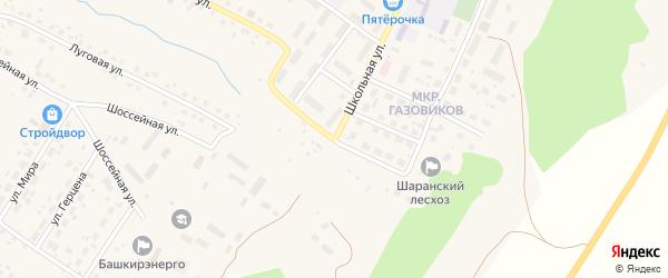 Комсомольская улица на карте села Шарана с номерами домов