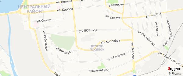 Карта территории ГК 26 города Воткинска в Удмуртии с улицами и номерами домов