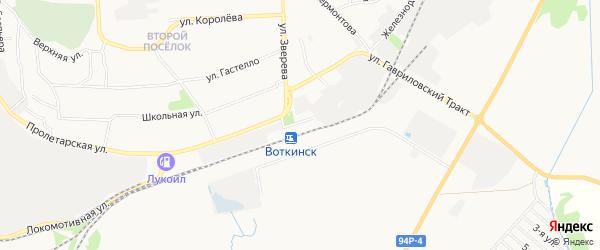 ГСК Гаражный кооператив N 9а на карте Воткинска с номерами домов