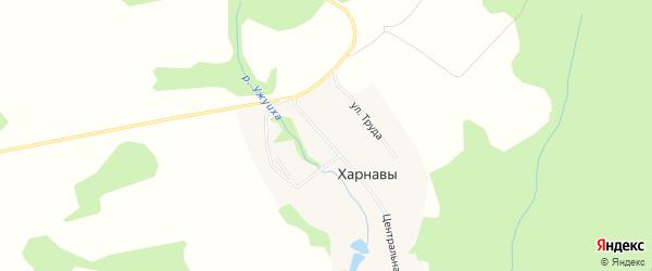 Карта деревни Харнавы города Чайковского в Пермском крае с улицами и номерами домов