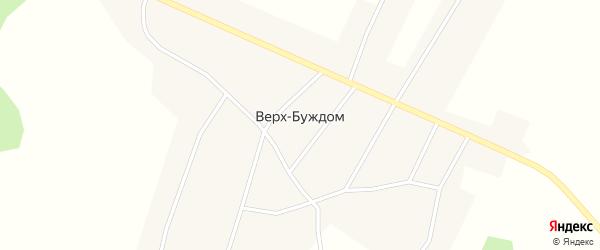 Лесная улица на карте поселка Верх-Буждом Пермского края с номерами домов