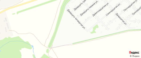 Двадцать шестая улица на карте Белебея с номерами домов