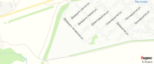 Двадцать четвертая улица на карте Белебея с номерами домов