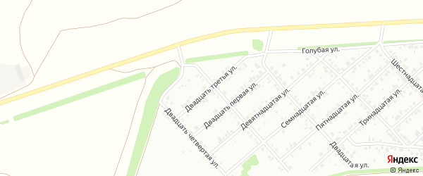 Двадцать третья улица на карте района Ласточки с номерами домов