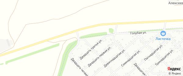 Двадцать пятая улица на карте Белебея с номерами домов