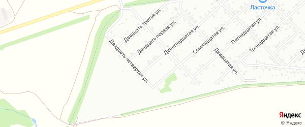 Девятнадцатая улица на карте Белебея с номерами домов