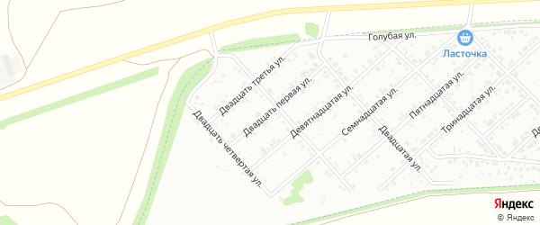 Двадцать первая улица на карте Белебея с номерами домов