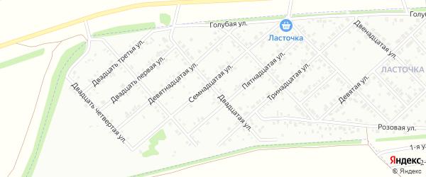 Двадцатая улица на карте Белебея с номерами домов