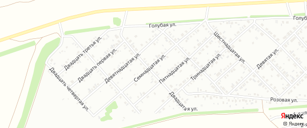 Семнадцатая улица на карте района Ласточки с номерами домов
