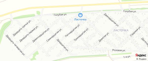 Восемнадцатая улица на карте Белебея с номерами домов