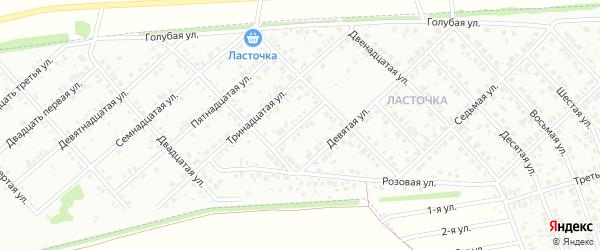 Одиннадцатая улица на карте Белебея с номерами домов