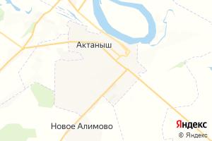 Карта с. Актаныш Республика Татарстан