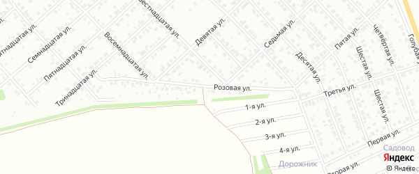 Розовая улица на карте Белебея с номерами домов