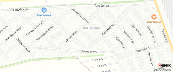 Четырнадцатая улица на карте Белебея с номерами домов